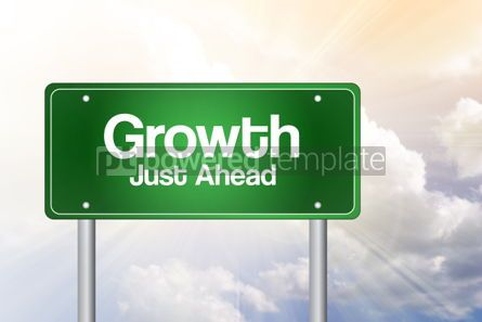 Business: Growth Green Road Sign business concept #02304