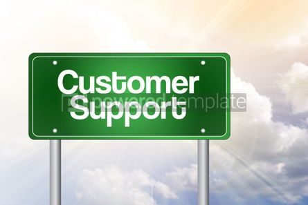 Business: Customer Support Green Road Sign business concept #02310