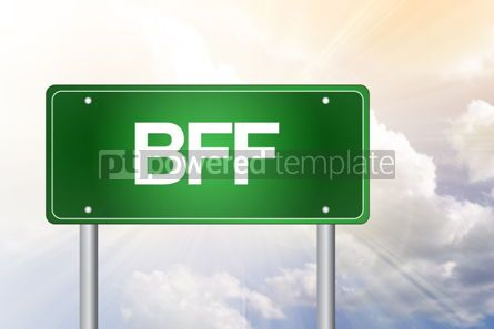 Business: BFF Best Friends Forever Green Road Sign concept #02314