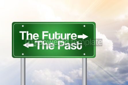 Business: The Future The Past Green Road Sign business concept #02315