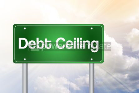 Business: Debt Ceiling Green Road Sign business concept #02317