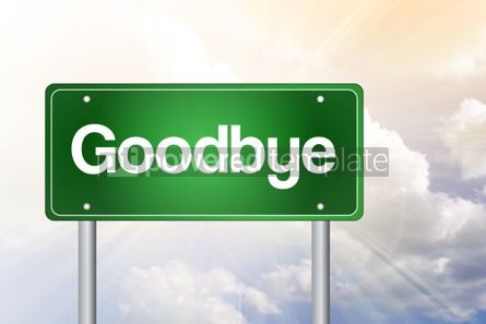 Business: Goodbye Green Road Sign business concept #02326