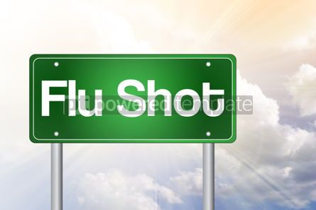 Business: Flu Shot Green Road Sign concept