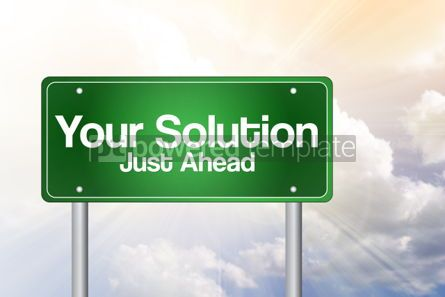 Business: Your Solution Green Road Sign business concept