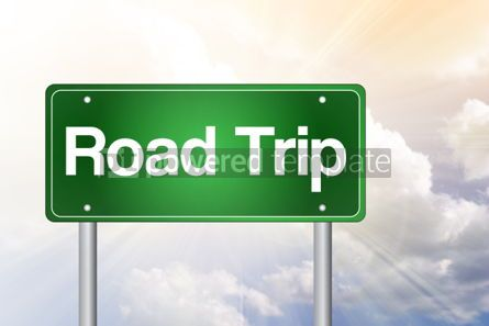 Business: Road Trip Green Road Sign concept