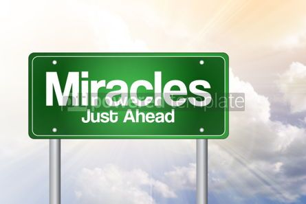 Business: Miracles Green Road Sign business concept