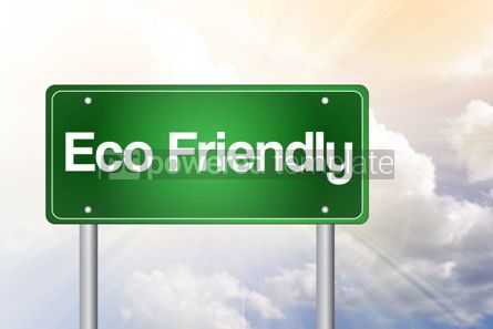 Business: Eco Friendly Green Road Sign concept #02358