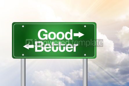 Business: Good Better Green Road Sign business concept #02359