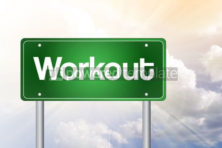 Business: Workout Green Road Sign concept