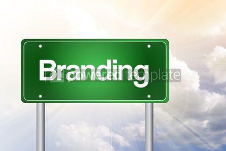 Business: Foto - marca o conceito de negócio de sinal de estrada verde #02370