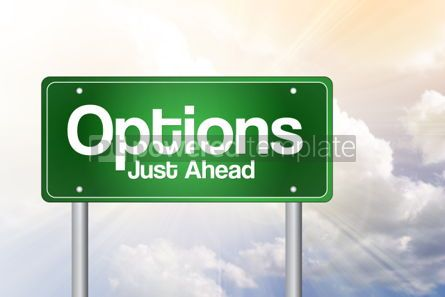 Business: Options Green Road Sign business concept #02388