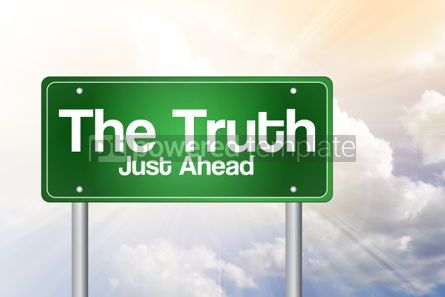 Business: The Truth Green Road Sign business concept #02394