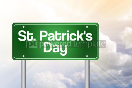 Business: St. Patrick's Day Green Road Sign concept #02398