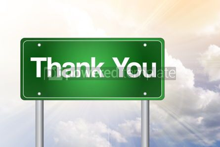Business: Thank You Green Road Sign Business Concept #02399