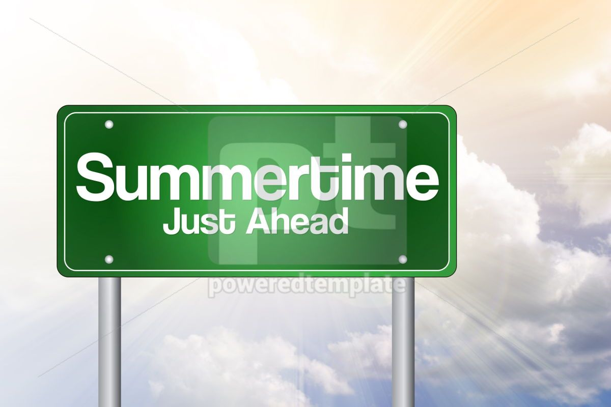 Summertime Green Road Sign concept
