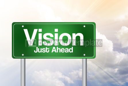 Business: Vision Just Ahead Green Road Sign business concept