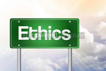 Business: Ethics Green Road Sign business concept