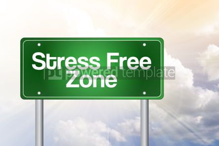 Business: Stress Free Zone Green Road Sign business concept