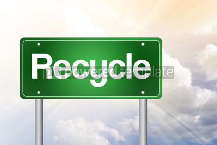Business: Recycle Green Road Sign Concept #02445