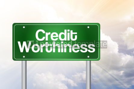 Business: Credit Worthiness Green Road Sign Business Concept #02448