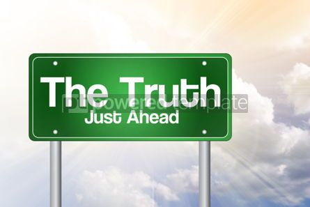 Business: The Truth Green Road Sign business concept #02450