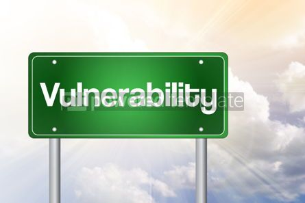 Business: Vulnerability Just Ahead Green Road Sign Business Concept