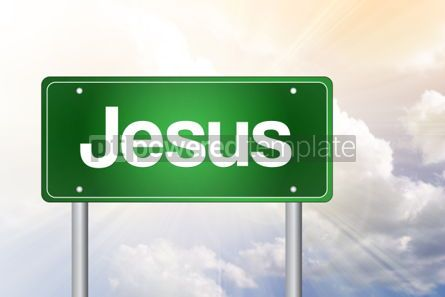 Business: Jesus Green Road Sign Concept #02453