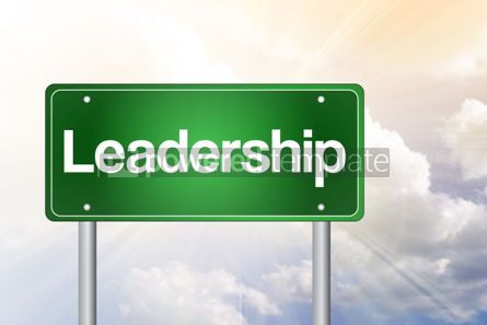 Business: Leadership Green Road Sign business concept #02454