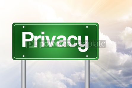 Business: Privacy Green Road Sign business concept