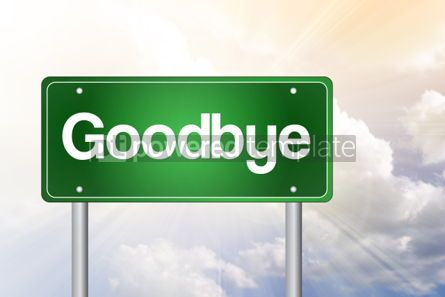 Business: Goodbye Green Road Sign business concept