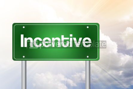Business: Incentive Green Road Sign business concept