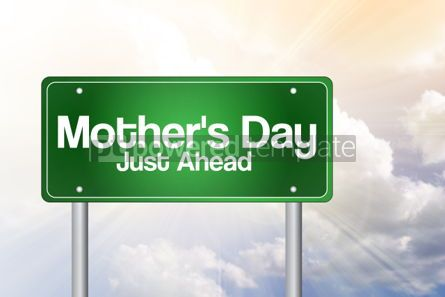 Business: Mother's Day Green Road Sign concept