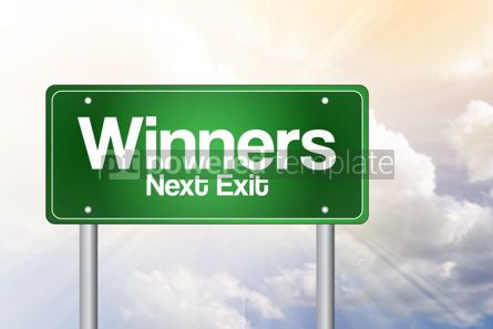 Business: Winners Green Road Sign business concept #02495