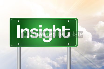 Business: Insight Green Road Sign business concept #02496