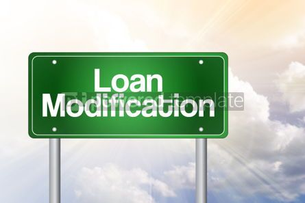 Business: Loan Modification Green Road Sign business concept #02507