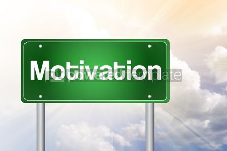 Business: Motivation Green Road Sign business concept #02508
