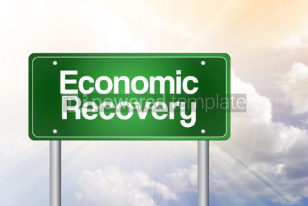 Business: Economic Recovery Green Road Sign Business Concept #02509
