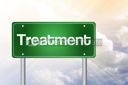 Business: Treatment Green Road Sign Business Concept