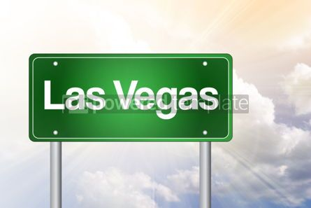Business: Las Vegas Green Road Sign Travel Concept