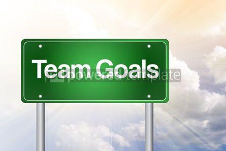 Business: Teamdoelen Groene Verkeersteken Bedrijfsconceptenachtergrond Foto #02538
