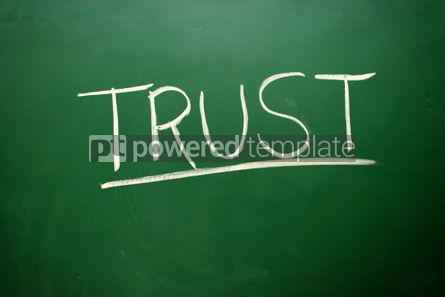 Business: Handwritten Trust word with white chalk #02568