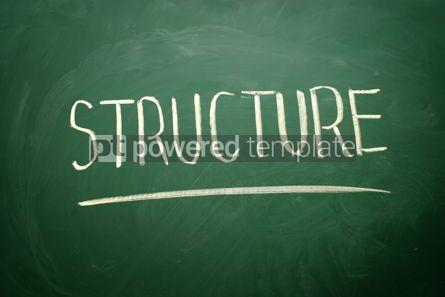 Business: Handwritten Structure word with white chalk #02570