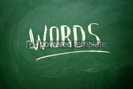 Business: Handwritten Words word with white chalk #02571