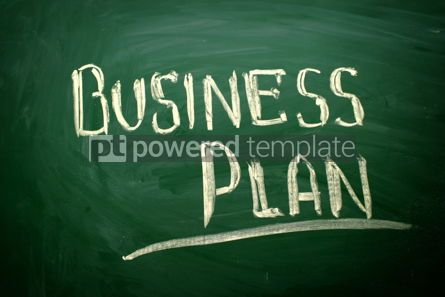 Business: Business Plan title written with chalk #02572