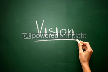 Business: Vision on the blackboard #02582