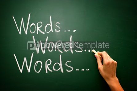 "Business: Handwritten ""words"" with chalk