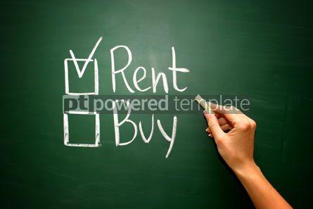Business: Buy not rent concept #02594