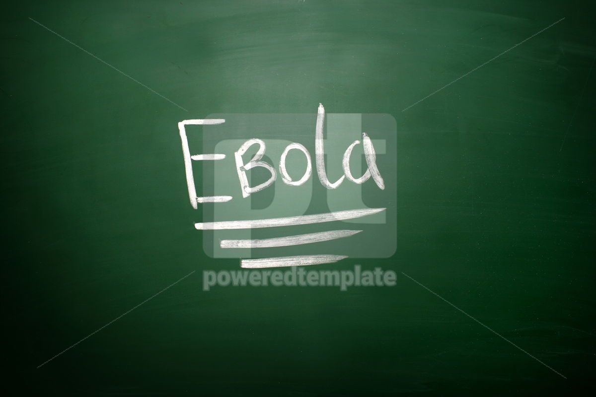 Ebola virus text on blackboard, 02602, Business — PoweredTemplate.com