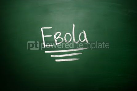 Business: Ebola virus text on blackboard #02602