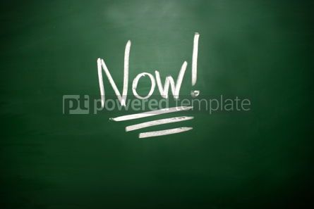 Business: The word Now! on blackboard #02603